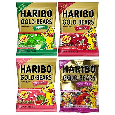 HARIBO 4 oz Bag Gummi/Gummy Flavored GOLD-BEARS Candy LIMITED EDITION Exp.12/17+