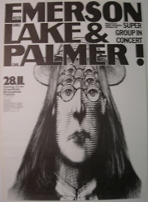 Emerson Lake & Palmer Concert Tour Poster 1970 Debut Lp Kieser