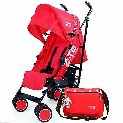 Zeta CiTi Stroller - Warm Red From Birth Complete With Bag
