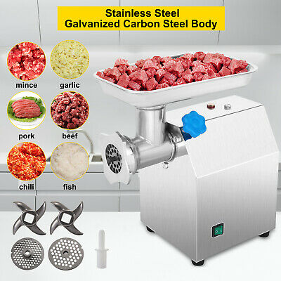 Stainless Steel Electric Meat Grinder Commercial Mincer Sausage Maker Industrial