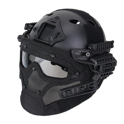 Tactical Protective Googles G4 System Full Face Mask Helmet Airsoft Paintball