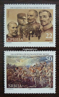 2012 SERBIA-COMPLETE SET (MNH)! wwi kumanovo battle king army war military JD