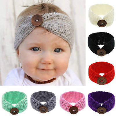 Newborn Kids Knit Bowknot Headband Hair Band Hair Accessories Hairband