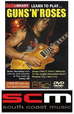 LICK LIBRARY LEARN TO PLAY GUNS N ROSES GUITAR 2 DVD's!