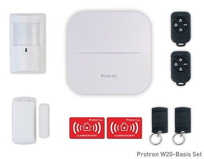 Protron Smart Home Funk GSM GPRS WLAN Alarmanlage Sirene APP SMS RFID Smarthome