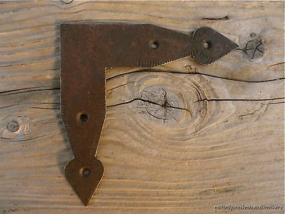 Antique Style Wrought Iron Arrowhead Flat Corner Plate Door Joint Plate Fc1