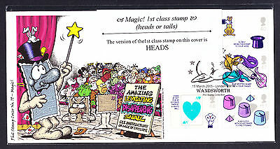 2005 GB Great Britain Phil Stamp First Day Cover FDC Magic number 65 of 100