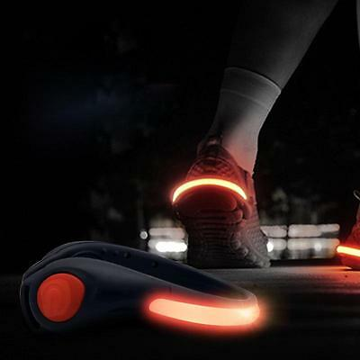 1 Pair Night Safety Heel Outdoor LED Shoe Clip Bright Light For Running Cycling