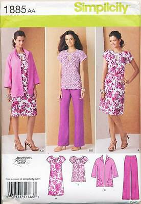 Simplicity Sewing Pattern 1885 Womens 20W-28W Top/dress Pants Jacket, Plus Sizes