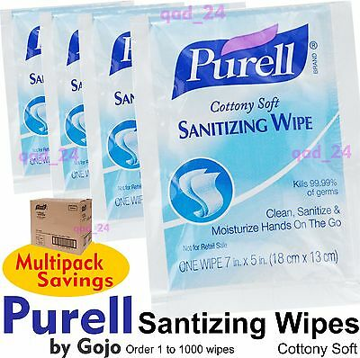 PURELL WIPES - Anti Bacterial Hand Sanitizing Disinfectant Clean Hygienic Travel