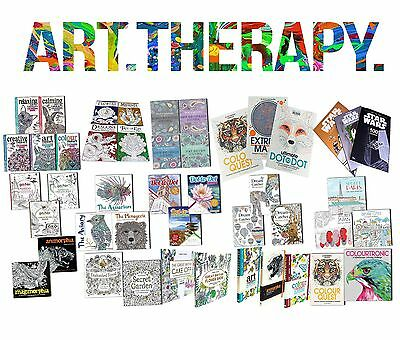 Stress Relieving Art Therapy Adult Colouring Books Collection