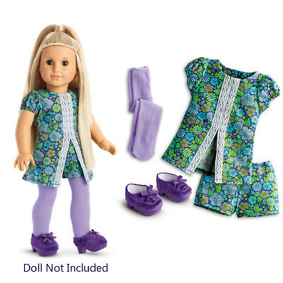 """American Girl JULIE NEW YEARS EVE OUTFIT BEFOREVER for 18"""" Doll Hippie Clothes"""