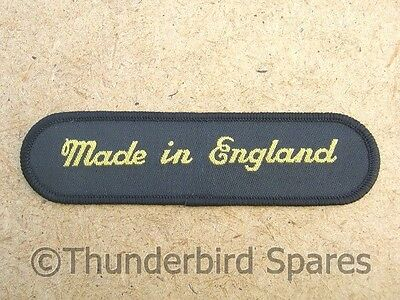 Made in England Sew-On Patch, Top Quality