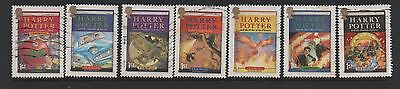 GB 2007 Harry Potter fine used set stamps as singles postally used