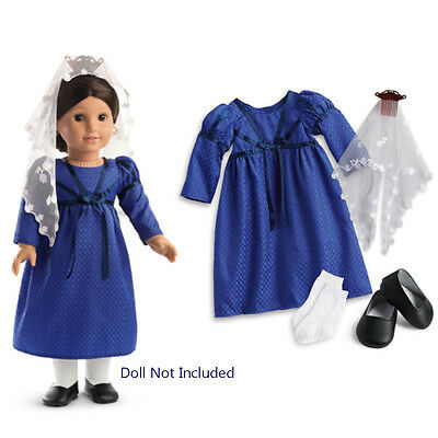 "American Girl JOSEFINA NAVIDAD OUTFIT BF for 18"" Doll Veil Beforever Dress NEW"