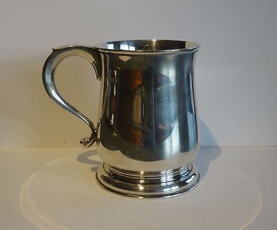 English Sterling Silver Pint Mug, Barnard & Sons, London : Ideal Presentation
