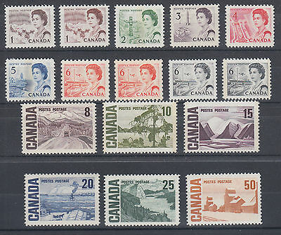 Canada Uni 454i/465Ai MNH. 1967-1971 Centennial issues, 16 different