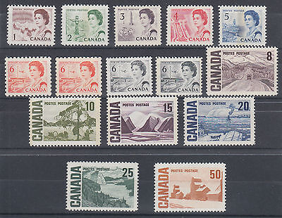 Canada Uni 454iii/465Ai MNH. 1967-1971 Centennial issues, 15 different