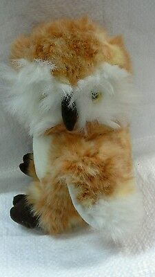 Owl ginger and white soft toy