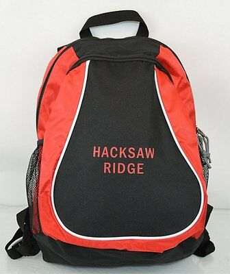 Hacksaw Ridge Andrew Garfield Movie Promo Backpack Sack Red Black Press Gift