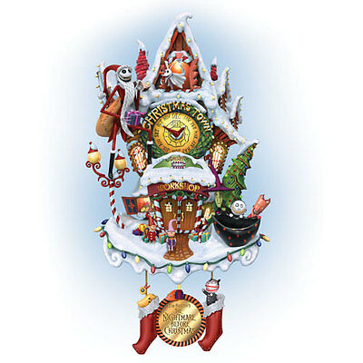 Christmas Town Nightmare Before Christmas Cuckoo Clock  - Bradford Exchange