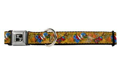 Beautiful Floral and Heart Artistic Desing Collage Animal Seatbelt Pet Collar