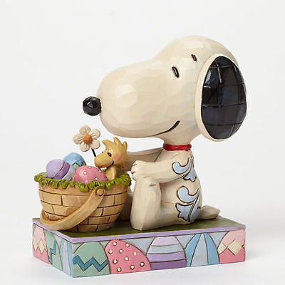 Snoopy Easter Bunny with Woodstock Peanuts   Disney Figurine  Jim Shore