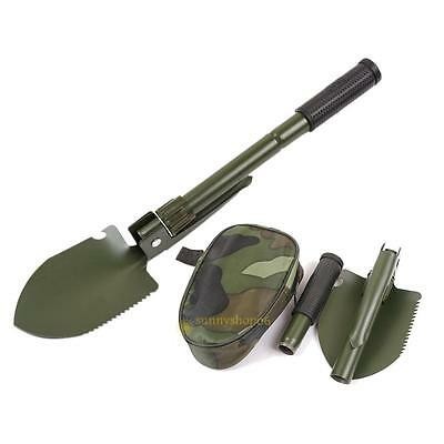 Portable Multifunction Folding Shovel Spade Tools Trowel with Compass Multitool