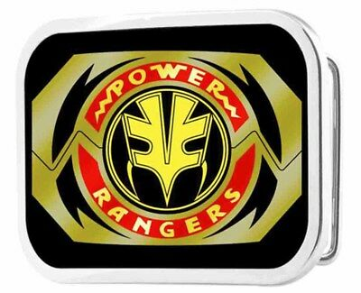 Power Rangers Live Action TV Series White Ranger Logo Rockstar Belt Buckle