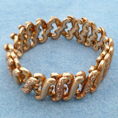 Small Victorian Expandable Gold Plate Bracelet