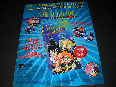 SLAYERS The Sudden Pinch Vintage ANIME Promo Ad mint condition