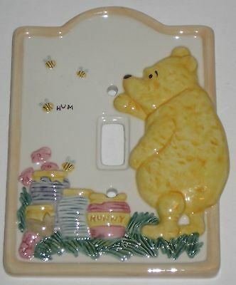 WINNIE The POOH Pottery SWITCH PLATE COVER by CHARPENTE
