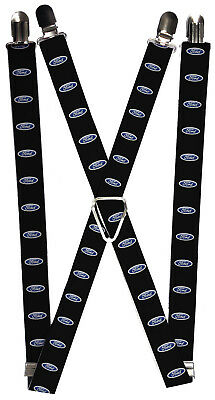 Ford Automobile Company Classic Blue Logos Suspenders