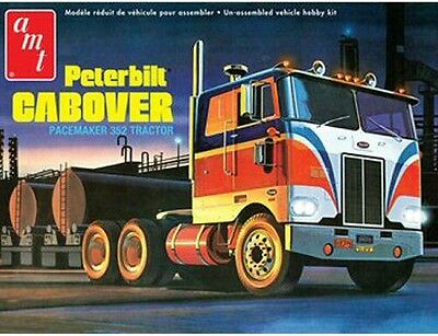 Peterbilt Cabover Pacemaker 1/25 scale skill 2 AMT plastic model kit#759