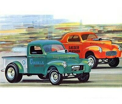 1940 Willy's Coupe or Pickup Truck 1/25 scale skill 2 AMT plastic model kit#818