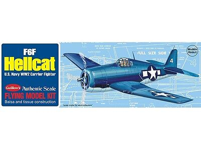 F-6F Hellcat WW2 Fighter Guillow's Balsa Wood model kit#503