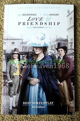 LOVE & FRIENDSHIP FYC For Your Consideration screenplay script book KATE BECKIN