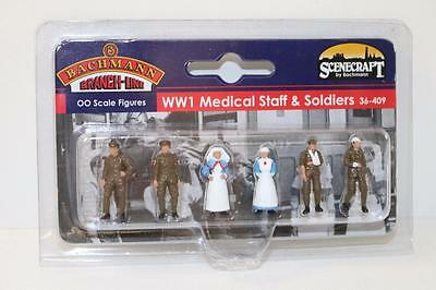 Bachmann Branchline OO 36-409 Figures WW1 Medical Staff & soldiers NEW FNQHobbys
