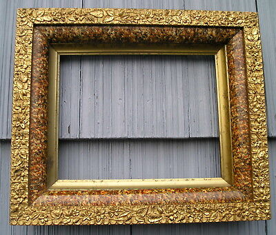 Antique Aesthetic Eastlake Victorian Deep Marbled Floral Edge Picture Frame 8~10