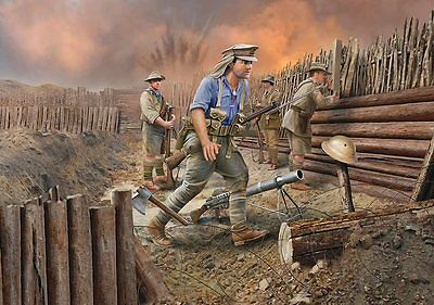 ANZAC Infantry (1915) 1/72 scale skill 4 Revell plastic model kit#2618