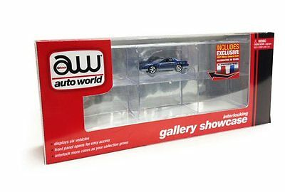 6-Car Display Case with Exclusive Car 1/64 scale Auto World #002