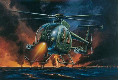 AH-6 Night Fox Helicopter 1/72 scale Italeri plastic model#0017