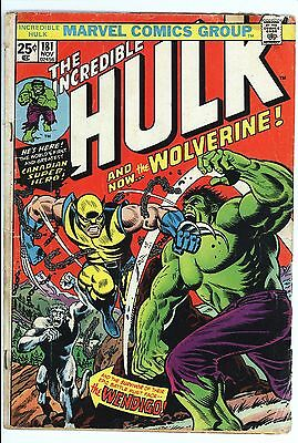 Incredible Hulk #181 Vol 1 Nice Lower Grade Qualified 1st App of Wolverine