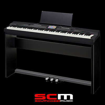 Privia Px360 Black Digital Piano 88 Weighted Keys Usb Matching Stand & 3 Pedals