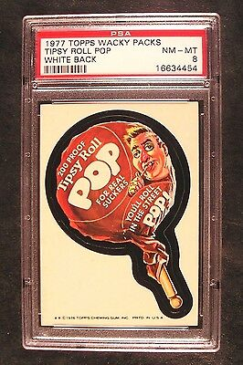 1976/77 Topps Wacky Packages 16th Series 16 TIPSY ROLL POP NM-MT PSA 8