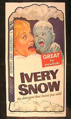 1973 Topps Wacky Packages Test Poster Series IVERY SNOW DETERGENT #11 of 24 nm