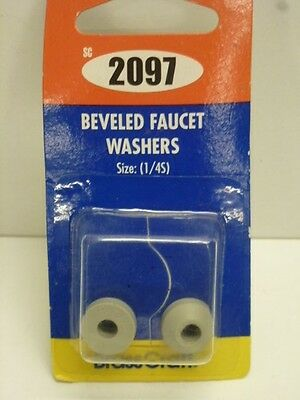 BRASS CRAFT FLAT FAUCET WASHERS, TRADE SIZE: 1/4, O.D. 9/16\