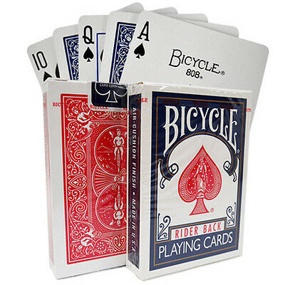 Sealed Deck of Bicycle Standard Face Poker Playing Cards Color Red Or Blue