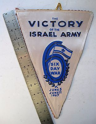 Israel Pennant 6 Day War Victory 21st Anniversary Independence Moshe Dayan Rabin