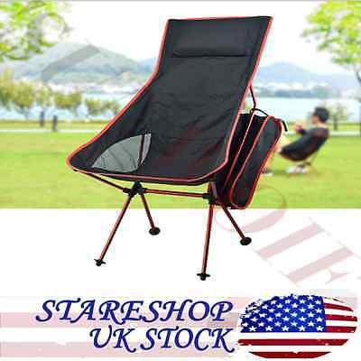 Portable Chair Folding Fishing Table 2 Cup Holder BBQ Camping Outdoor Hiking US